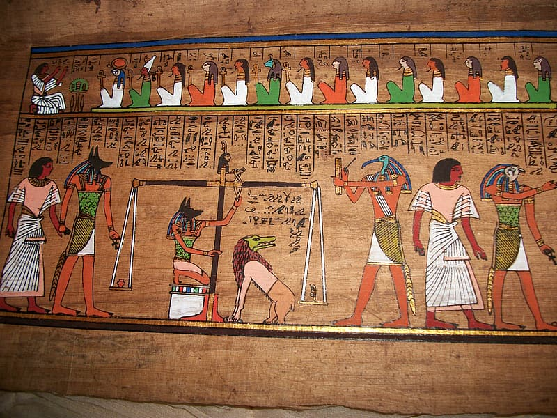 Egyptian hieroglyphics board