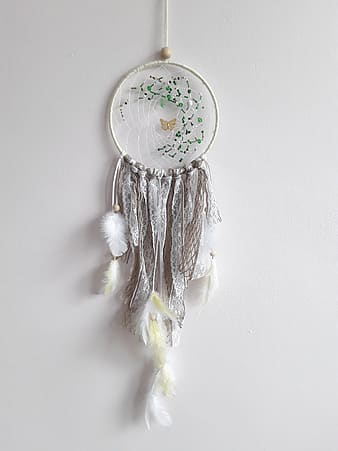 Hanged white dream catcher