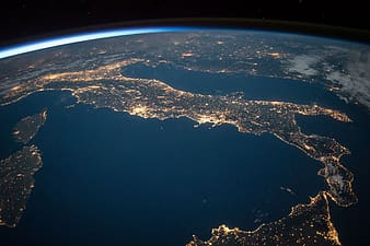 Photo of earth from outer space