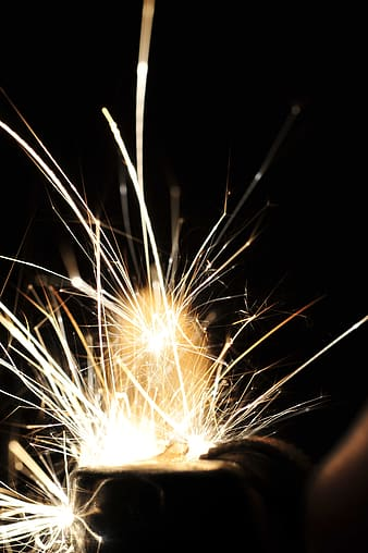 Time lapse photography of sparkler