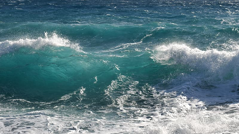 Clear blue waves