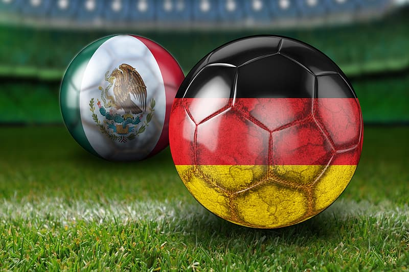 Two soccer ball illustrations
