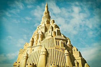 Photo of sand castle during daylight