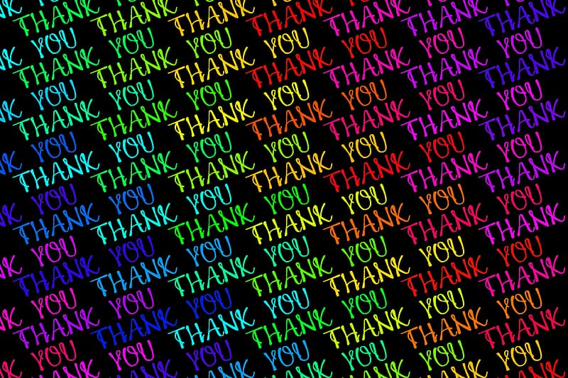 Assorted-color thank you print wallpaper