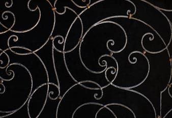Brown wrought decor