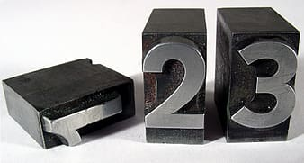 1, 2, and 3 number blocks