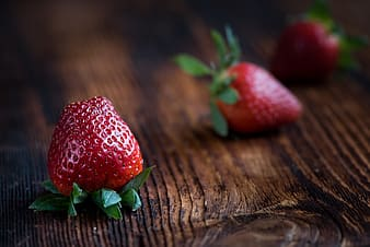 Depth of field photograph of strawberry