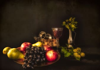 Still life photography of fruits