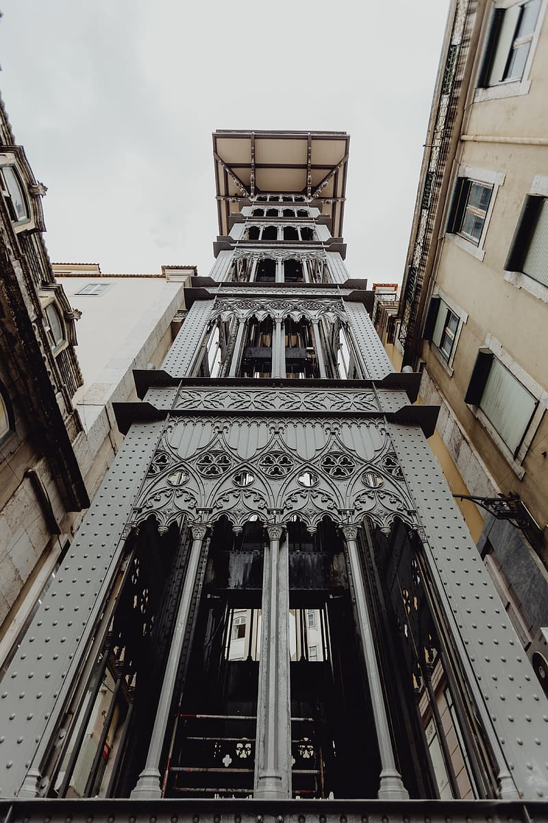 View of the historic elevator of Lisbon in Portugal
