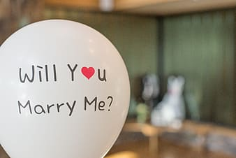 White will you marry me?-printed balloon