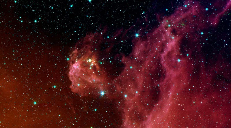 Photo of red galaxy