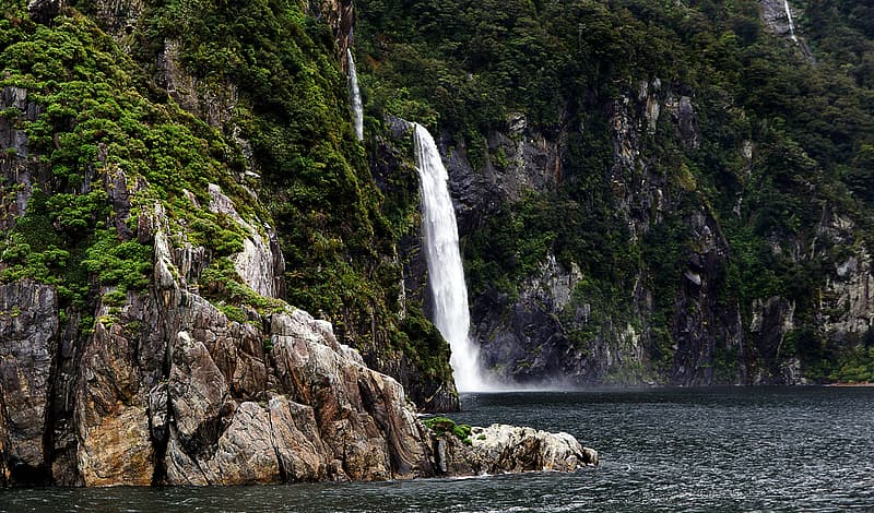 Fiordland National Park Nz Waterfall In Forest Pikrepo