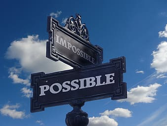 Impossible and Possible street signage