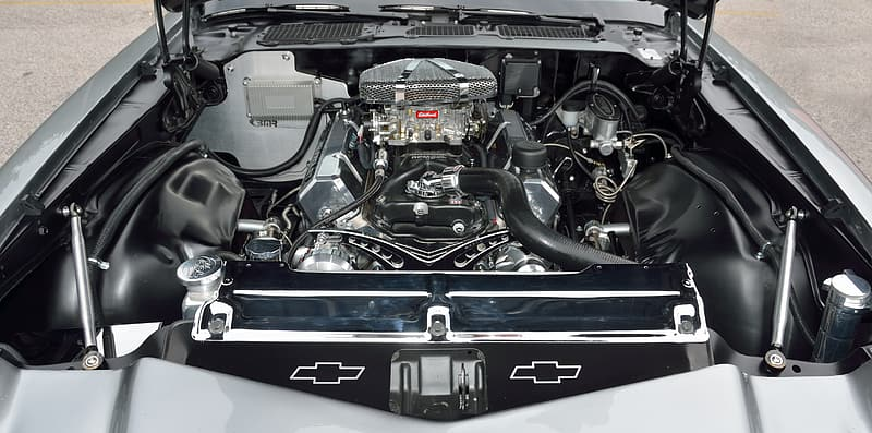 Close-up photo of vehicle engine bay