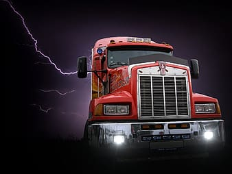 Red freight truck