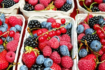 Assorted-variety of berries