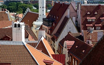 House roofs at daytime