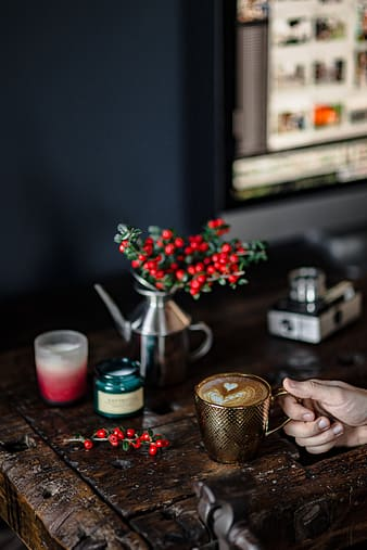 Fresh Holly and Candles