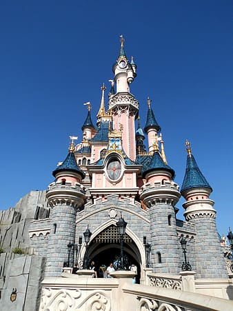Low-angle photography of Disneyland castle