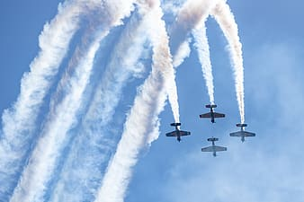 3 fighter plane in mid air