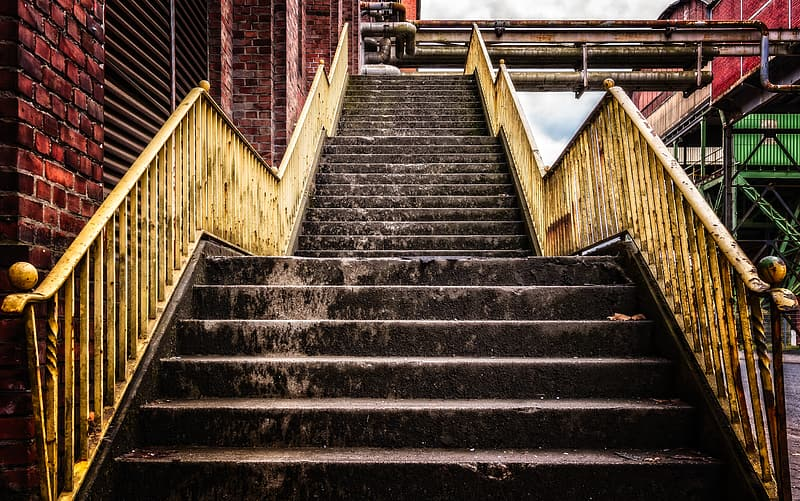 Empty stair on building