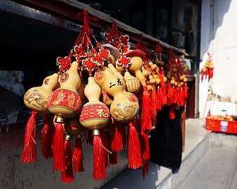 Red and gold chinese lanterns