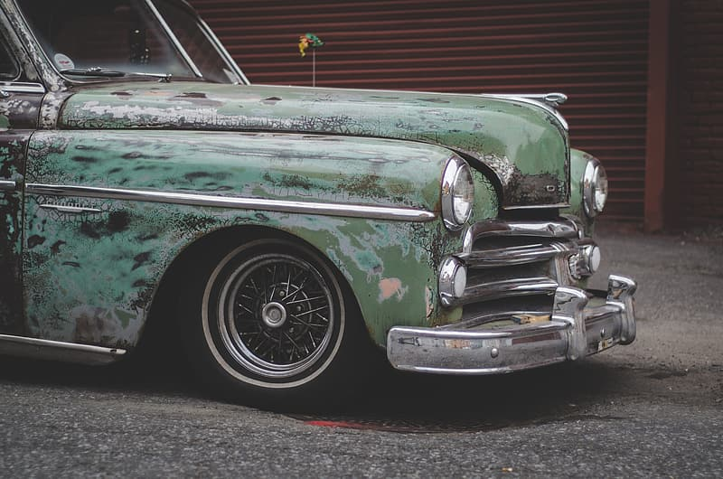 Photo of vintage green car