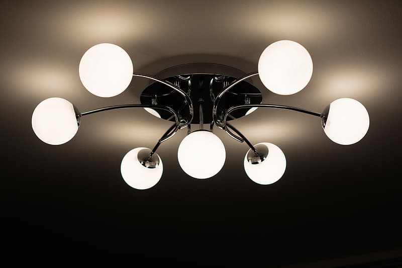 Silver-colored frame glass pendant lamp