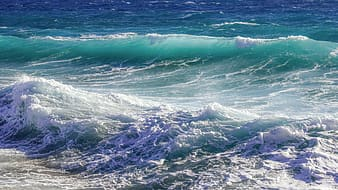 Photo of two ocean wave