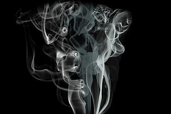 Smoke on air with black as background