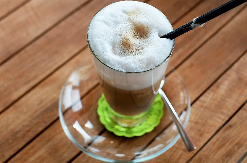 Coffee in drinking glass