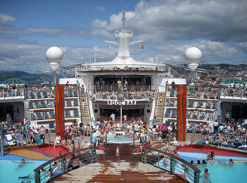 People in cruise ship during daytime