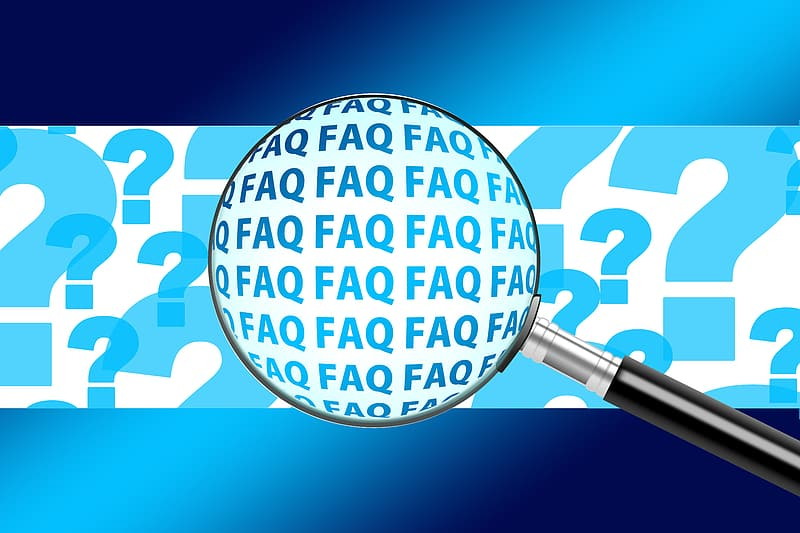FAQ illustration with magnifying glass