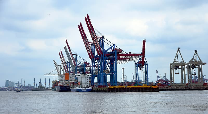 Landscape photography of ship and equipment