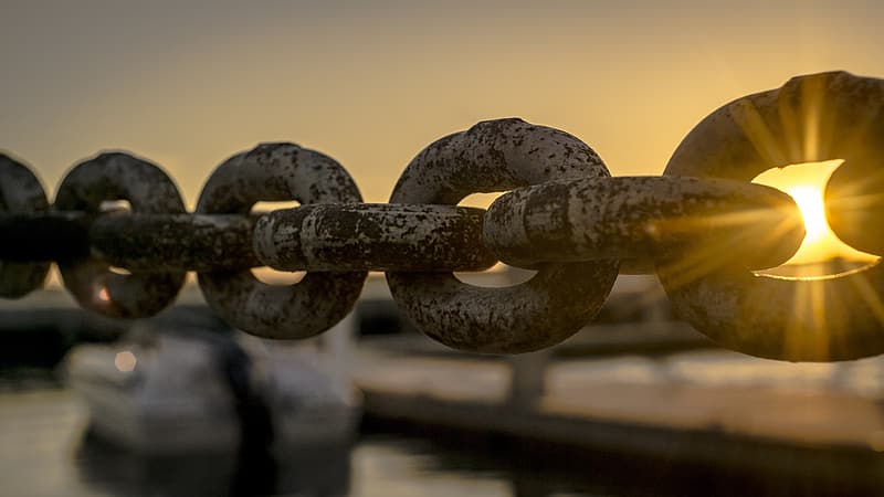 Brown metal chain in close up photography
