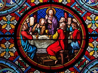The Last Supper stained glass decoration