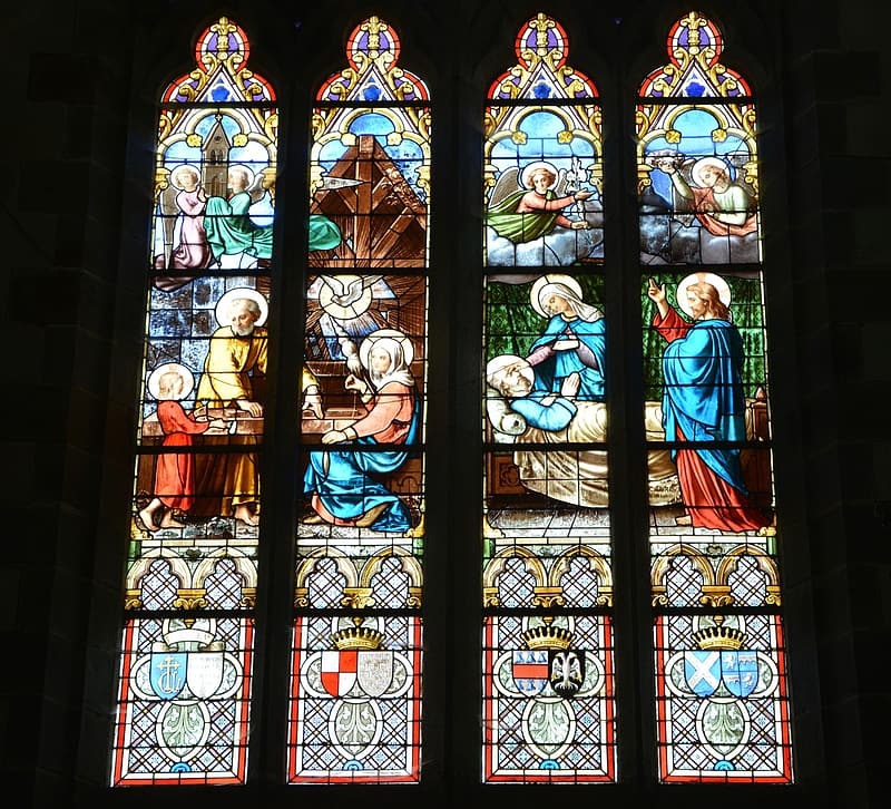 Religious stained glass decor