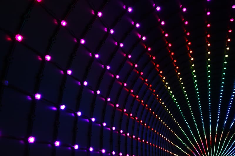 Multicolored LED light digital wallpaper