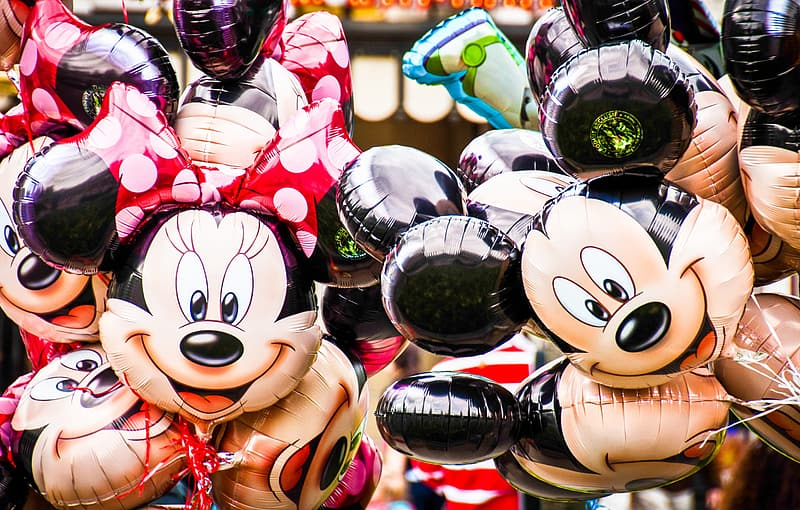 Minnie Mouse and Mickey Mouse balloons