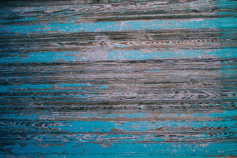 Blue and brown wooden surface