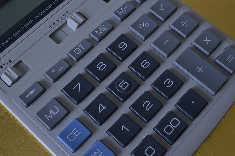 Gray electronic calculator