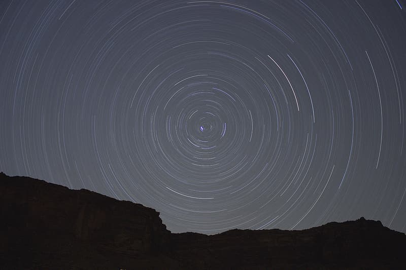 Timelapse photography of stars