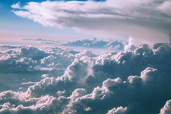 Landscape photography of white clouds