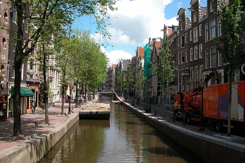 Canal between houses