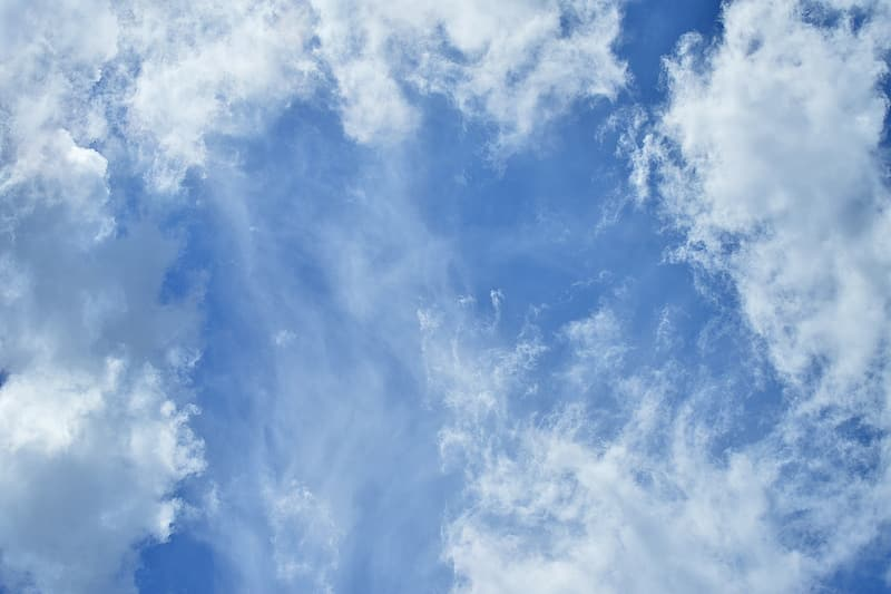 Worm's eye view photography of white clouds