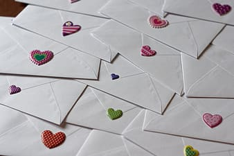 Photography of message envelopes
