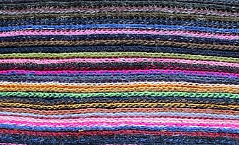 Multicolored knit textile