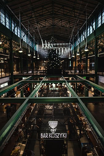 'Koszyki' market hall, commonly known as the 'People's bazaar', Warsaw, Poland