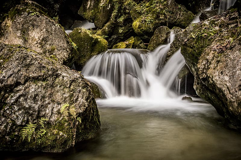 Timelapse photography of waterfall river