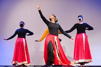 Woman dancing on stage